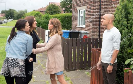 Ep 9244(1) Friday 8th September 2017 - 2nd Ep Convinced that Rich planted the drugs, Michelle Connor, as played by Kym Marsh, sets off for his house, determined to have her revenge. Is she playing with fire? As Michelle flies at Rich, as played by Fraser Ayres, accusing him of a whole litany of crimes, Kate Connor, as played by Faye Brookes, and Maria Connor, as played by Samia Longchambon, try to pull her back. Rich swears blind he's innocent