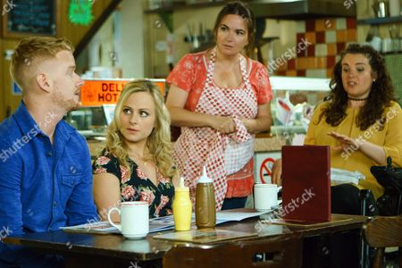 Ep 9241 Wednesday 30th August 2017 Gary Windass, as played by Mikey North, assures Izzy Armstrong, as played by Cherylee Houston, and Anna Windass, as played by Debbie Rush, that his job isn't dangerous, he's part of a well trained team. Will they be placated?