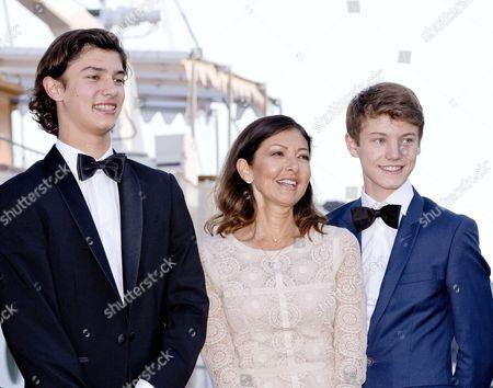 Prince Nikolai and Prince Felix and Countess Alexandra of Frederiksborg