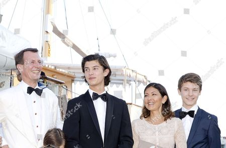 Prince Nikolai and Prince Felix and Countess Alexandra of Frederiksborg and Prince Joachim