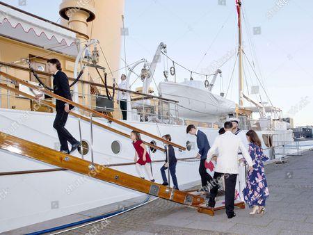 Prince Nikolai and Prince Felix and Prince Henrik and Princess Athena and Princess Marie