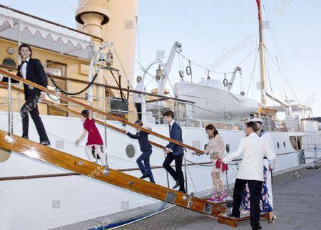 Prince Nikolai and Prince Felix and Prince Henrik and Princess Athena and Countess Alexandra of Frederiksborg