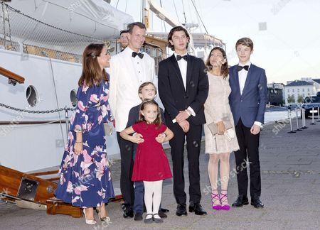 Princess Marie and Prince Joachim and Prince Nikolai and Prince Felix and Prince Henrik and Princess Athena and Countess Alexandra of Frederiksborg