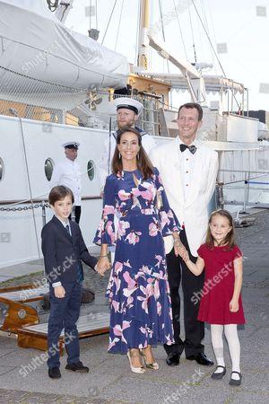 Princess Marie and Prince Joachim and Prince Henrik and Princess Athena