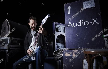 Bristol United Kingdom - November 2: Portrait Of American Musician Paul Gilbert Photographed Before A Live Performance At The Marble Factory In Bristol On November 2