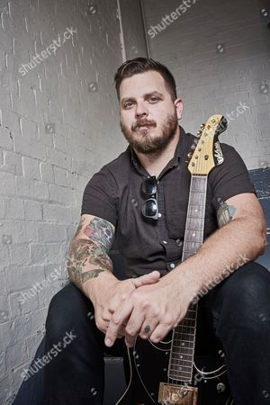 London United Kingdom - August 25: Guitarist And Vocalist Dustin Kensrue Of American Hard Rock Group Thrice Photographed Before A Live Performance At The O2 Kentish Town Forum In London On August 25