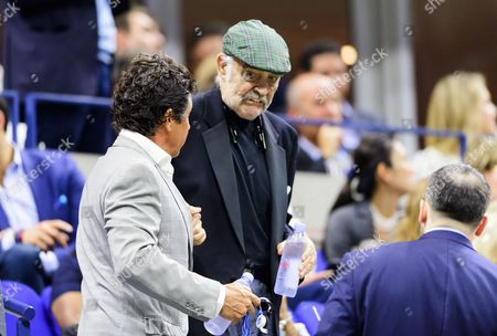 Sean Connery in the President's Box during round one of the US Open