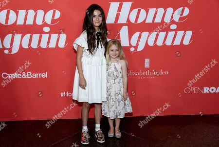 "Lola Flanery, Eden Grace Redfield Lola Flanery, left, and Eden Grace Redfield arrive at the Los Angeles premiere of ""Home Again"" at the DGA Theater, in Los Angeles"