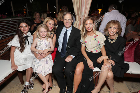 Stock Picture of Lola Flanery, Eden Grace Redfield, Reese Witherspoon, Tom Ortenberg, Chief Executive Officer of Open Road Films, Nancy Meyers, Producer, Hallie Meyers-Shyer, Director/Writer,