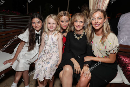Stock Image of Lola Flanery, Eden Grace Redfield, Reese Witherspoon, Nancy Meyers, Producer, Hallie Meyers-Shyer, Director/Writer,