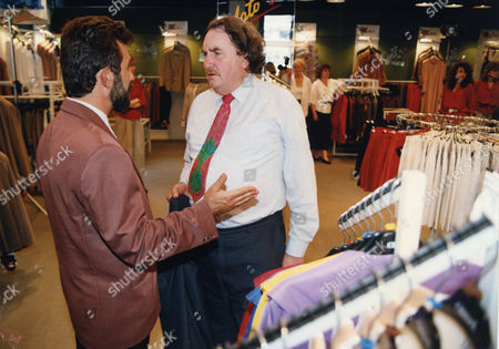 Sir John Harvey-jones (died January 2008) With Piotr Wislicki On A Visit To Dantex Fashions In Poland.