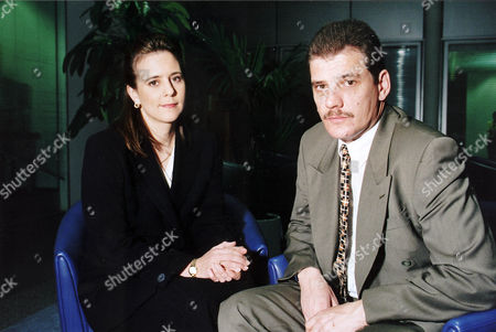 Steven Messham 37 Who Was A Victim Of Sexual Abuse At The Bryn Estyn Children's Home In North Wales 25 Years Ago. With Tanya Sillem British Journalist And Newscaster.