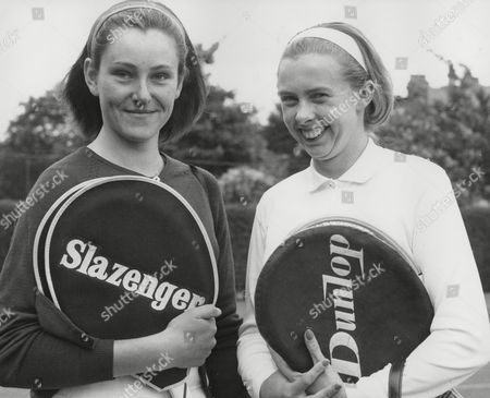 Tennis Players (l-r) Alison Fraser Black And Bonnie Atkins. Evening News Tennis Tournament. Box 716 911111615 A.jpg.