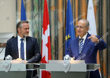 Editorial picture of Danish Minister for Foreign Affairs Anders Samuelsen visits Cyprus, Nicosia - 30 Aug 2017