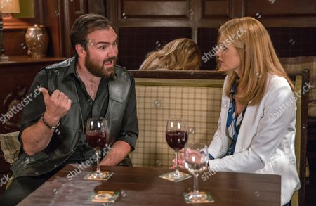 Ep 7933 Monday 11th September 2017  Bernice Blackstock, as played by Samantha Giles, wallows in her own issues when she considers her own relationships and decides to get back to dating. She ends up having a date with David's super-fan Scott, as played by Andrew Roberts-Palmer, while Laurel Thomas, as played by Charlotte Bellamy, and Nicola King, as played by Nicola King, watch on. Could this be the beginning of a blossoming romance?