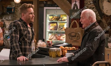 Ep 7930 & 7931 Thursday 7th September 2017 - 2nd Ep David Metcalfe's, as played by Matthew Wolfenden, still worried about finances but after Pollard, as played by Christopher Chittell, tells him he's being tight and he should spend his money on going to Thailand with Tracy, he secretly looks for a holiday.