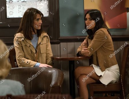 Ep 7929 Thursday 7th September 2017 - 1st Ep Emma Barton, as played by Gillian Kearney, rebukes Priya Sharma, as played by Fiona Wade, saying she knows about the affair but how will Leyla react to finding out her best friend slept with her fiance?