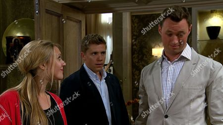 Ep 7923 Thursday 31st August 2017 - 1st Ep Rebecca White, as played by Emily Head, tells Robert Sugden, as played by Ryan Hawley, she's called the doctor for Lawrence White, as played by John Bowe, and Robert panics his drugging will be exposed.