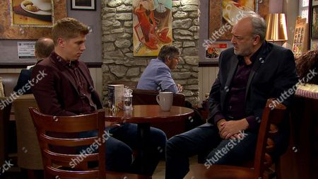 Ep 7922 Wednesday 30th August 2017 Rebecca tearfully confides in Robert Sugden, as played by Ryan Hawley, her worries over her dad's health and the state of the business. Robert feigns sympathy and tries to dissuade her from taking Lawrence White, as played by John Bowe, to see a doctor, saying he'll speak with Lawrence and sort it all out.
