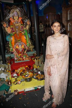 Bollywood actor Aditi Rao Hydari celebrates Ganesh Chaturthi