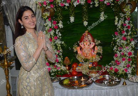 Bollywood actor Tamannaah Bhatia celebrates Ganesh Chaturthi