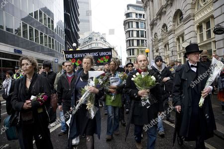 Editorial image of G20 Memorial March for Ian Tomlinson, London, Britain - 11 Apr 2009