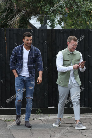 Tommy Mallet & Michael Hassini filming for Gemma Collins ' Cow Girl Party