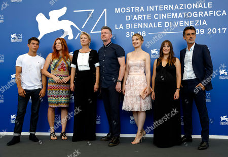 "Sandor Funtek, Susanna Nicchiarelli, Trine Dyrholm, John Gordon Sinclair, Anamaria Marinca, Karina Fernandez, Thomas Trabacchi From left, actor Sandor Funtek, director Susanna Nicchiarelli, and actors Trine Dyrholm, John Gordon Sinclair, Anamaria Marinca, Karina Fernandez, and actor Thomas Trabacchi pose during the photo call for the film ""Nico,1988"" at the 74th edition of the Venice Film Festival in Venice"