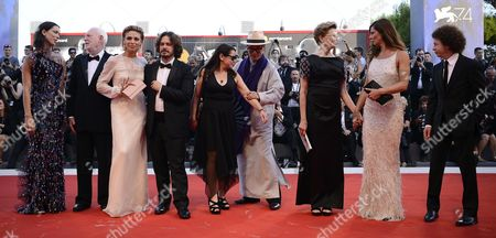 Members of the 'Venezia 74' jury (L-R) Rebecca Hall, Edgar Wright, Jasmine Trinca, Michel Franco, Ildiko Enyedi, Yonfan, Annette Bening, Anna Mouglalis, David Stratton, arrive for the opening ceremony and screening of 'Downsizing' at the 74th annual Venice International Film Festival, in Venice, Italy, 30 August 2017. The festival runs from 30 August to 09 September.