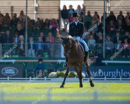 Mark Todd (NZL) riding NZB Campino in action during the Dressage Phase on the first day of competition. The Land Rover Burghley Horse Trials. Burghley House, Stamford, Lincolnshire, Britain. 30th Aug 2018.