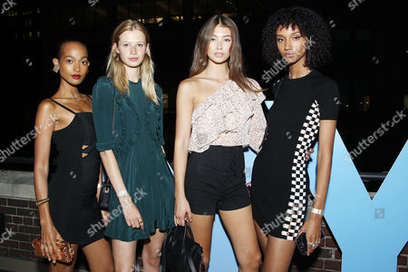 Stock Picture of Melie Tiacoh, Anna Lund, Lorena Rae, Aiden Curtiss