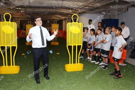 Jon Patricof with NYCFC youth players