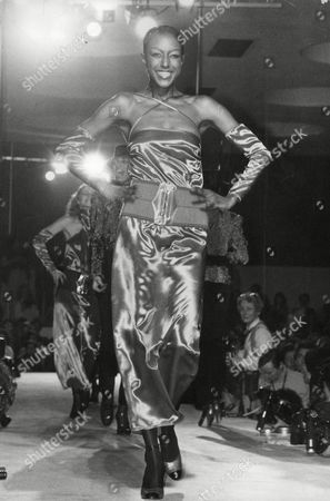 Billy Blair Fashion Model In Satin Dress By Krizia. Box 718 722111629 A.jpg.
