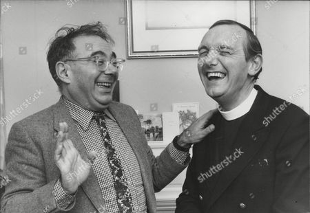 Rabbi Lionel Blue (l) Having A Laugh With Fellow Broadcaster Rev. Roger Royle. Box 719 630111627 A.jpg.