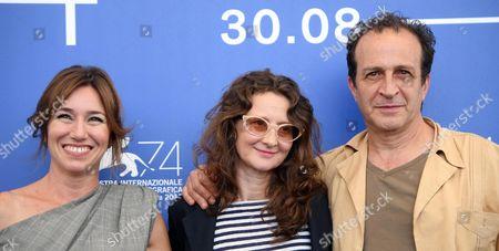 Lola Duenas, Lucrecia Martel and Daniel Gimenez Cacho