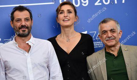 Adel Karam, Camille Salameh and Julie Gayet