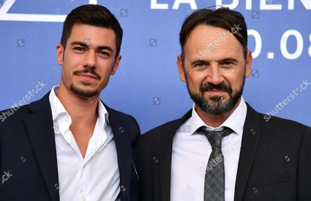 Italian actord Riccardo Macchion (L) and Paolo Pierobon pose during a photocall for 'L'Ordine delle Cose'' at the 74th annual Venice International Film Festival, in Venice, Italy, 31 August 2017. The movie is presented in the 'Proiezioni Speciali' section at the festival running from 30 August to 09 September.