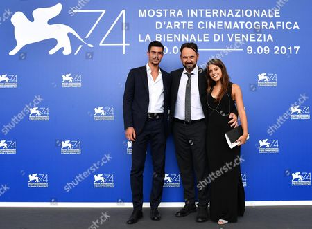 Italian actord Riccardo Macchion (L), Paolo Pierobon (C) and Greta Galie' pose during a photocall for 'L'Ordine delle Cose'' at the 74th annual Venice International Film Festival, in Venice, Italy, 31 August 2017. The movie is presented in the 'Proiezioni Speciali' section at the festival running from 30 August to 09 September.