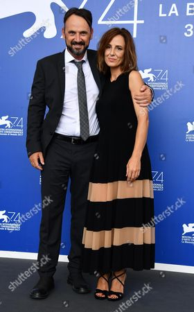 Italian actors Valentina Carnelutti (R) and Paolo Pierobon pose during a photocall for 'L'Ordine delle Cose'' at the 74th annual Venice International Film Festival, in Venice, Italy, 31 August 2017. The movie is presented in the 'Proiezioni Speciali' section at the festival running from 30 August to 09 September.