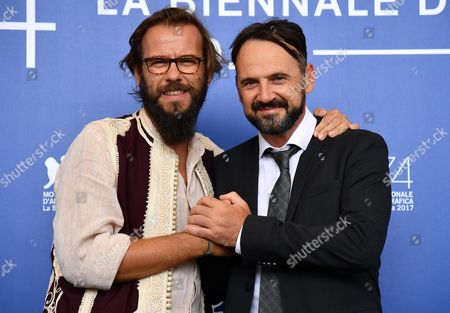 Italian actor  Paolo Pierobon (R) and Italian director Andrea Segre pose during a photocall for 'L'Ordine delle Cose'' at the 74th annual Venice International Film Festival, in Venice, Italy, 31 August 2017. The movie is presented in the 'Proiezioni Speciali' section at the festival running from 30 August to 09 September.