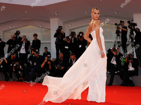 """Model Renata Kuerten walks on the red carpet for the film """"The Shape of Water"""" at the 74th Venice Film Festival in Venice, Italy"""