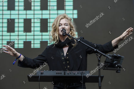 Singer Inga Humpe of the German band 2Raumwohnung performs on stage during the Internationale Funkausstellung Berlin (IFA), an international consumer electronics fair, in Berlin, Germany, 31 August 2017. The IFA is the world's leading trade show for consumer electronics and home appliances and open for the general public from 01 to 06 September. The fair presents over 1800 exhibitors from more than 50 countries and expects over 200,000 visitors this year.