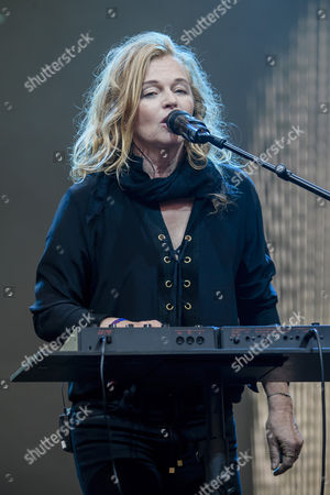Stock Picture of Singer Inga Humpe of the German band 2Raumwohnung performs on stage during the Internationale Funkausstellung Berlin (IFA), an international consumer electronics fair, in Berlin, Germany, 31 August 2017. The IFA is the world's leading trade show for consumer electronics and home appliances and open for the general public from 01 to 06 September. The fair presents over 1800 exhibitors from more than 50 countries and expects over 200,000 visitors this year.