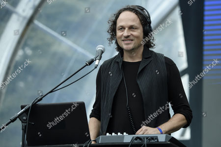 Stock Photo of Musician Tommi Eckart of the German band 2Raumwohnung performs on stage during the Internationale Funkausstellung Berlin (IFA), an international consumer electronics fair, in Berlin, Germany, 31 August 2017. The IFA is the world's leading trade show for consumer electronics and home appliances and open for the general public from 01 to 06 September. The fair presents over 1800 exhibitors from more than 50 countries and expects over 200 000 visitors for this year.