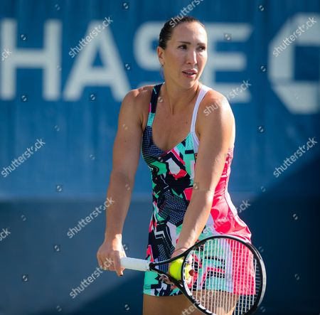Stock Image of Jelena Jankovic of Serbia during her first-round doubles match