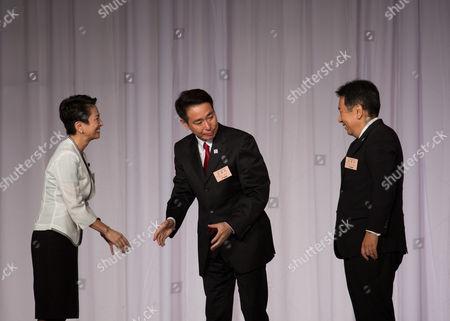 Seiji Maehara, Renho Murata and Yukio Edano
