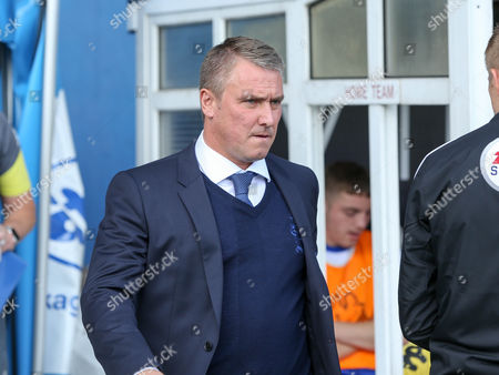 Bury manager Lee Clark ahead of the game vs Scunthorpe