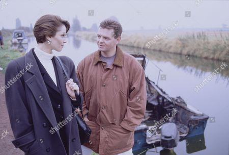 Stock Picture of Colette Stevenson (as Lynette Campion) and Philip Middlemiss (as Des Barnes)