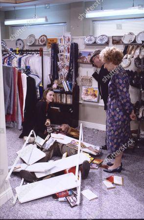 Deborah McAndrew (as Angie Freeman), Harold Goodwin (as Joss Shackleton), Eileen Derbyshire (as Emily Bishop) and Bill Waddington (as Percy Sugden)