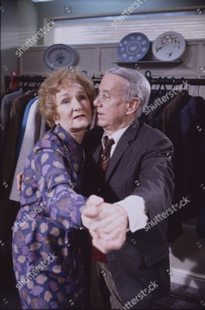 Eileen Derbyshire (as Emily Bishop) and Harold Goodwin (as Joss Shackleton)